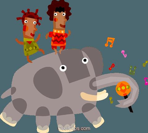 Menschen Reitet Auf Einem Elefanten Vektor Clipart Bild Vc098387