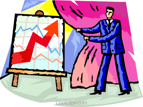 Charting Success Royalty Free Vector Clip Art illustration vc098651