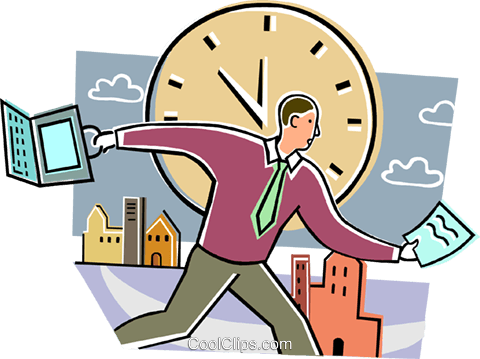 Concepts of time Royalty Free Vector Clip Art illustration vc099518
