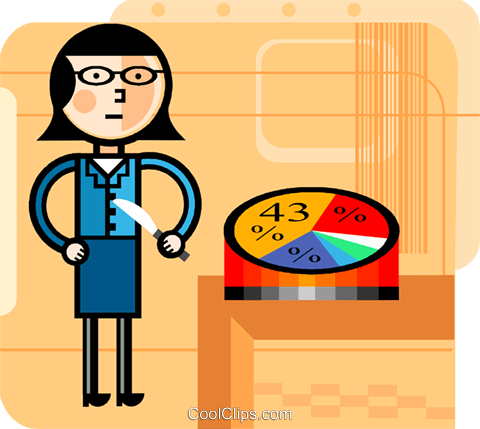 Charting Success Royalty Free Vector Clip Art illustration vc099608