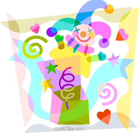 Jack-in-the-Box Royalty Free Vector Clip Art illustration vc099613