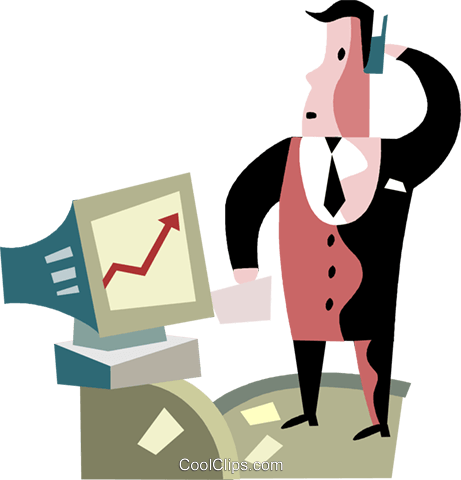 Charting Success Royalty Free Vector Clip Art illustration vc099749