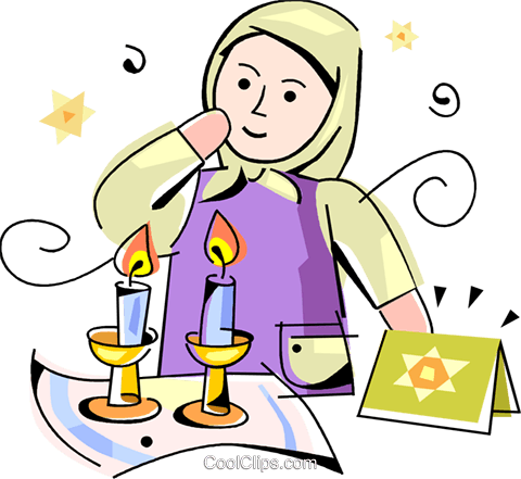 Jewish child Royalty Free Vector Clip Art illustration vc099793