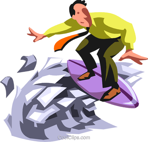 Surfing Royalty Free Vector Clip Art illustration vc099909