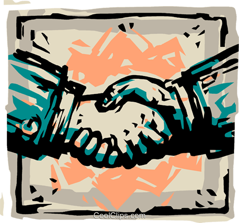 shaking hands Royalty Free Vector Clip Art illustration vc100022