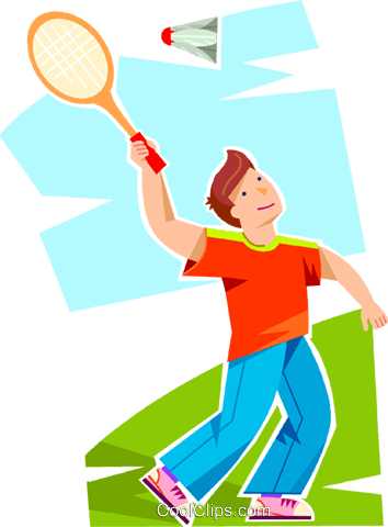 boy playing badminton royalty free vector clip art illustration rh search coolclips com badminton clip art black & white badminton clip art black & white