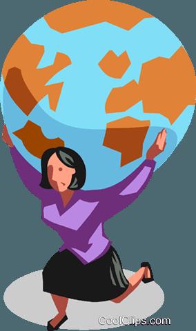 donna con il mondo sulle spalle immagini grafiche vettoriali clipart vc100762