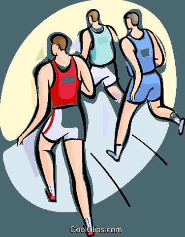 运动员跑步 免版税矢量剪贴画插图