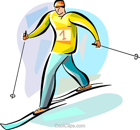 Cross Country Skiing Royalty Free Vector Clip Art ...