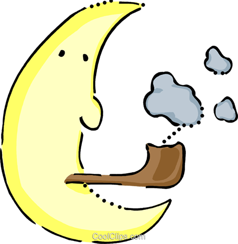 Moon Royalty Free Vector Clip Art illustration vc101018
