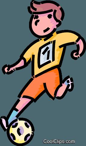 Junge Spielt Fussball Vektor Clipart Bild Vc101110 Coolclips Com