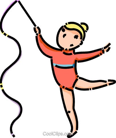 gymnast Royalty Free Vector Clip Art illustration vc101150