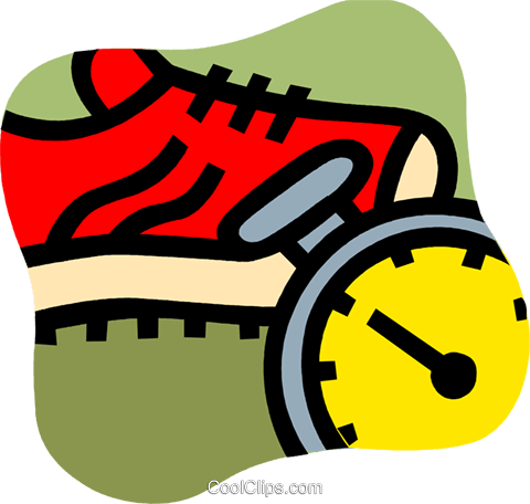 Running Shoes Royalty Free Vector Clip Art illustration vc101161