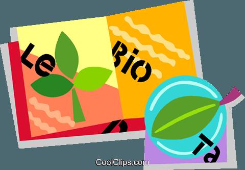 生物学书 免版税矢量剪贴画插图