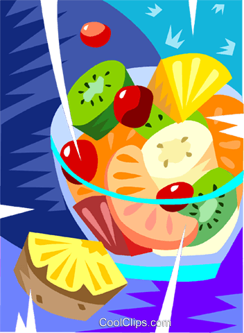 Fruit salad Royalty Free Vector Clip Art illustration vc101459