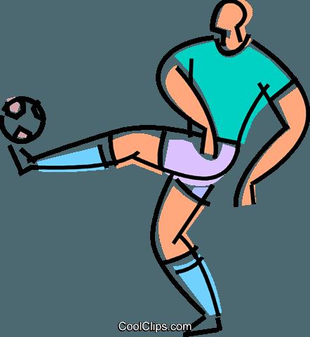 Fussballer Einen Ball Vektor Clipart Bild Vc101699 Coolclips Com