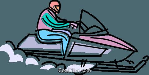 snowmobile racing through the snow royalty free vector clip art rh search coolclips com