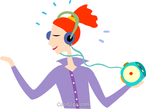 Girl listening clip art