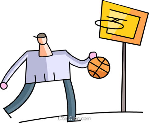 Basketball Players Royalty Free Vector Clip Art illustration vc102003