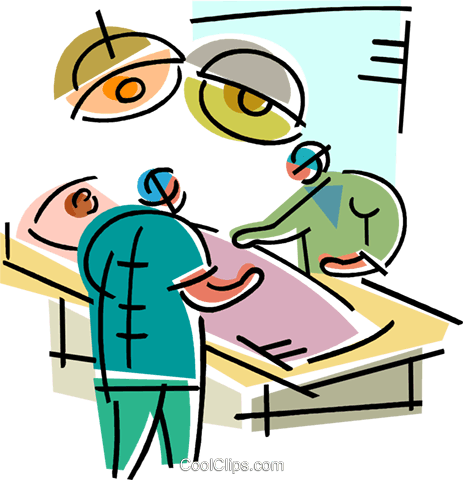 Doctors in Surgery Royalty Free Vector Clip Art illustration vc102024