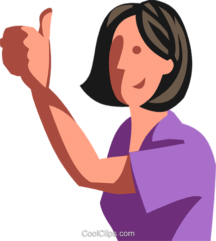 Woman giving the thumbs up Royalty Free Vector Clip Art illustration vc102378