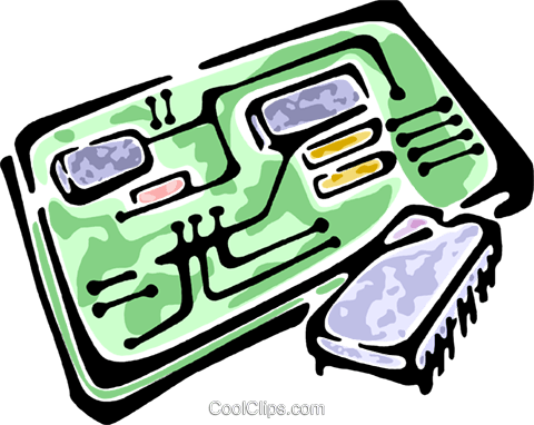 circuit board and a computer chip royalty free vector clip art rh search coolclips com circuit board clip art free circuit board clip art free