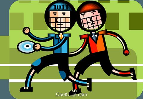 比赛 免版税矢量剪贴画插图