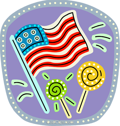USA Flag Royalty Free Vector Clip Art illustration vc103171