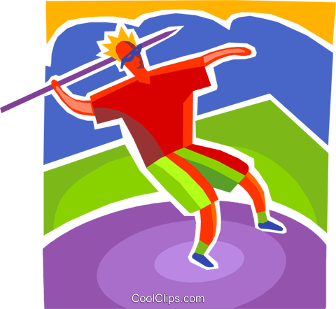 Javelin Royalty Free Vector Clip Art illustration vc103363