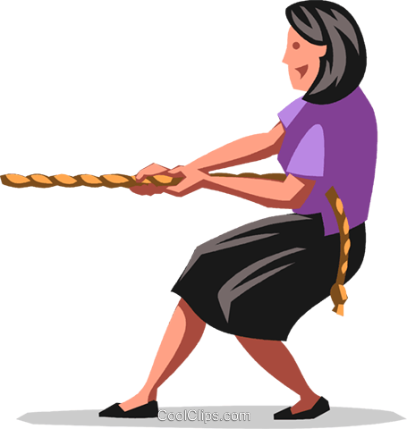 tug-of-war Royalty Free Vector Clip Art illustration vc103503