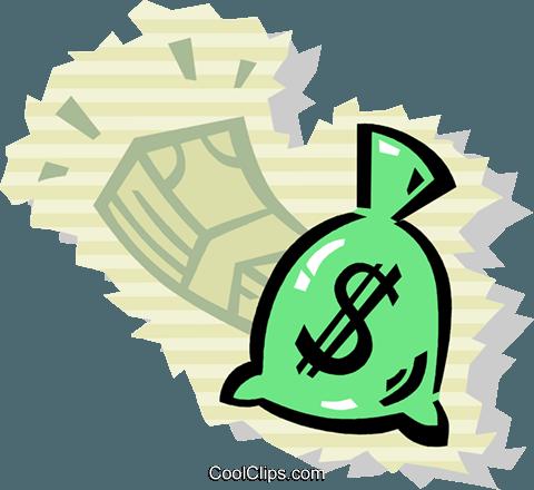 钱袋 免版税矢量剪贴画插图