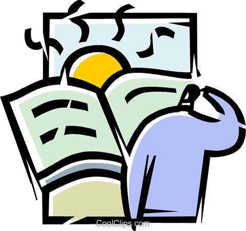 People with Books Royalty Free Vector Clip Art illustration vc103602
