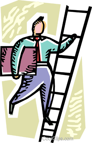 Climbing Ladders Royalty Free Vector Clip Art illustration vc103621