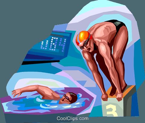 泳 免版税矢量剪贴画插图