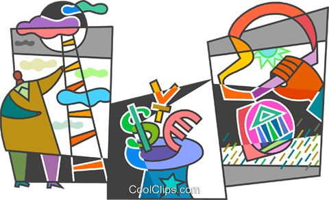 Climbing Ladders Royalty Free Vector Clip Art illustration vc104507