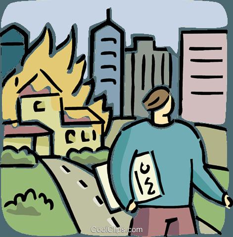 楼 免版税矢量剪贴画插图