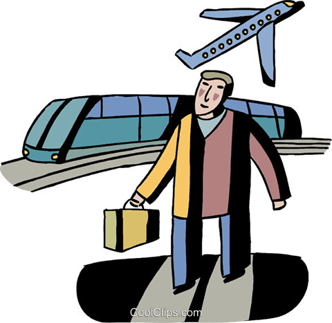 Passengers Royalty Free Vector Clip Art illustration vc106014