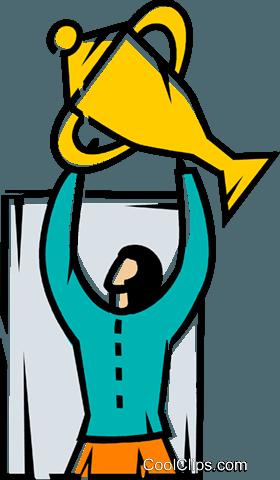 成就 免版税矢量剪贴画插图