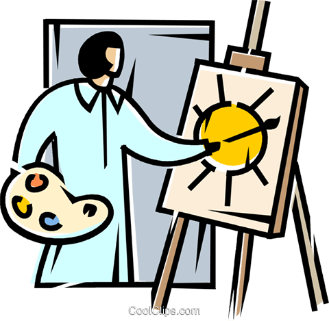 painters Royalty Free Vector Clip Art illustration vc106154