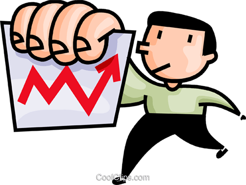 man with a chart Royalty Free Vector Clip Art illustration vc106602