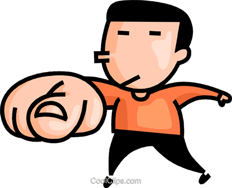 man pointing his finger Royalty Free Vector Clip Art illustration vc106635