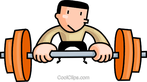 Man lifting weights Royalty Free Vector Clip Art illustration vc106673
