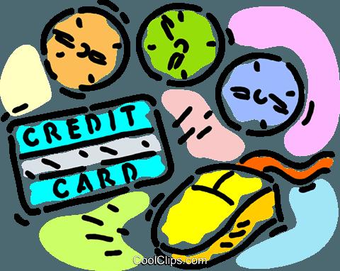 诚信的剪贴画-信用观念 免版税矢量剪贴画插图