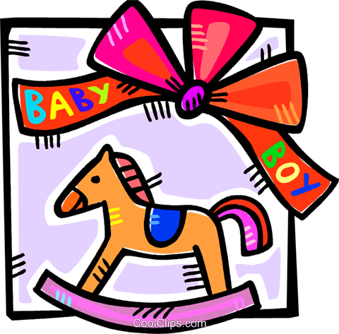rocking horse Royalty Free Vector Clip Art illustration vc107090