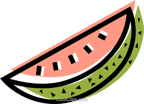 Watermelons Royalty Free Vector Clip Art illustration vc107252
