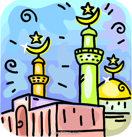 Islamic Mosque Royalty Free Vector Clip Art illustration vc107967