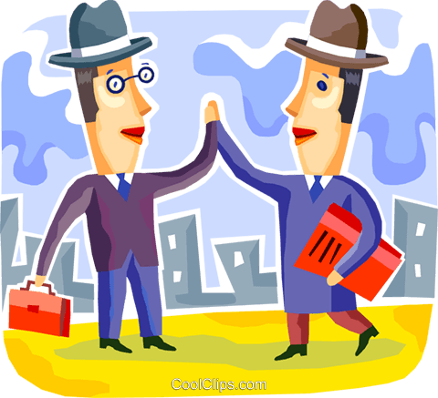 Shaking Hands Royalty Free Vector Clip Art illustration vc108112