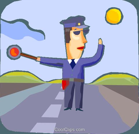 察 免版税矢量剪贴画插图