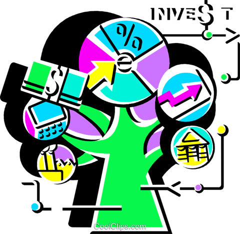 Investment and Stock Market Royalty Free Vector Clip Art illustration vc108538