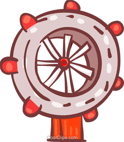 Captain's Wheel Vecteurs de stock et clip-Art vectoriel vc108741
